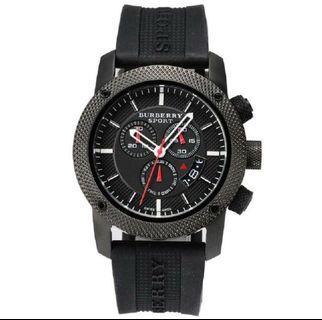 Burberry Endurance Chronograph Black Dial PVD Men's Watch BU7701