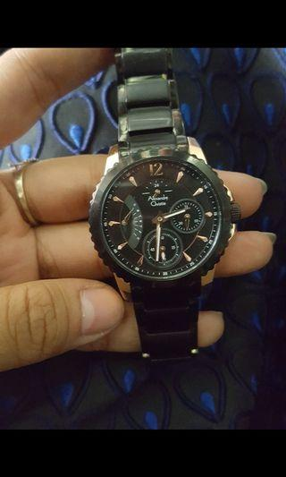 Jam Alexandre christie watches black gold jam tangan
