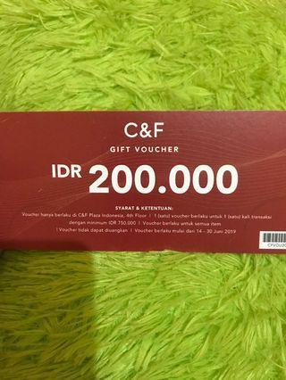 Gratis voucher C&F 200rb