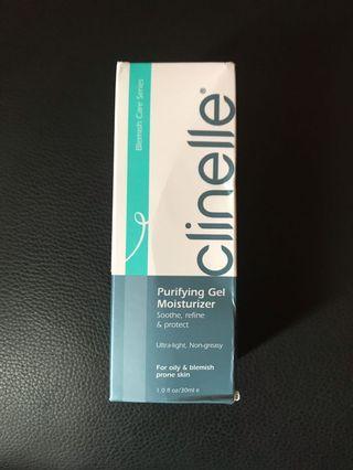 Clinelle purifying gel moisturizer