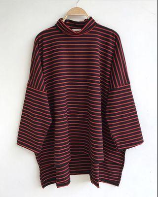 Mahara Nursingwear Alana Black Red Baju Menyusui