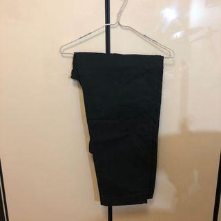 工裝 闊腳 Work ware Vintage Regular Fit Chino Flat Pants 黑色