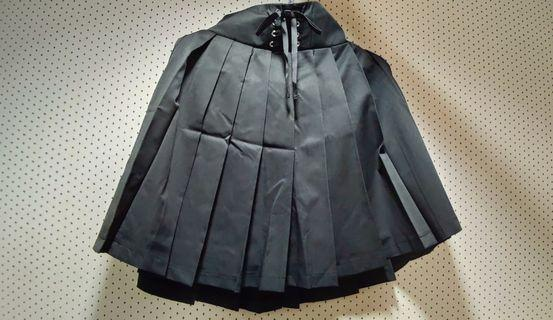 Ank Rouge黑色綁帶蝴蝶結半裙