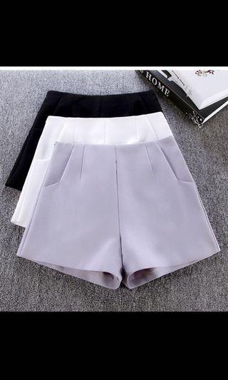 BNIB High Waist Shorts, light grey