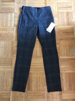 ZARA Dark Grey Plaid Pants