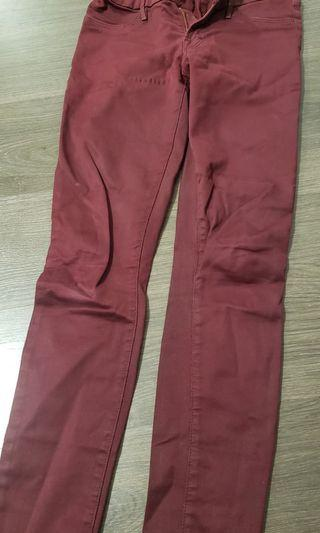 Marciano Jeans Maroon Stretch Fit Size 23
