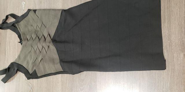 Marciano Black and Olive Bandage Dress size xs