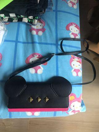 Sling bag (double pouch) minnie mouse
