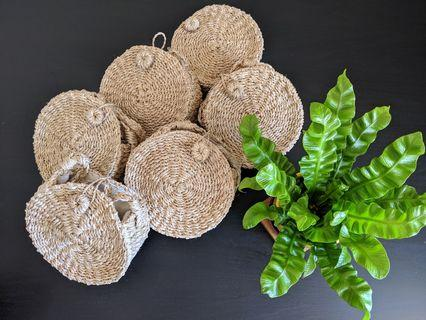 Bali style wooden bags