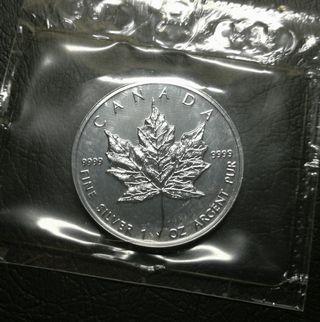 1996 加拿大1安士純銀楓葉銀幣UNC