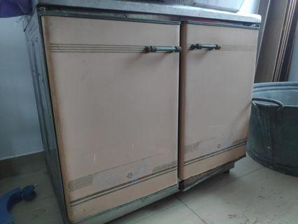 Kitchen stove cabinet