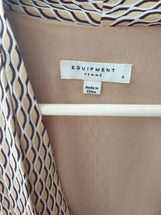 Equipment silk dress cut label