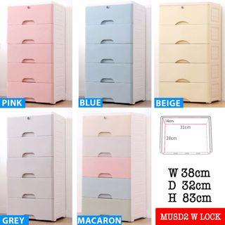 Great Singapore Sales FREE SHIPPING 5 LAYER PLASTIC DRAWER