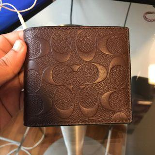 🚚 BN 💯 Authentic Coach Mens Wallet in brown with coin slot
