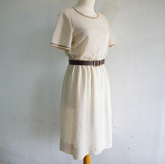 Vintage Dress - Broken White