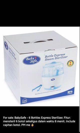 Baby Safe 6 Bottles Express Sterilizer