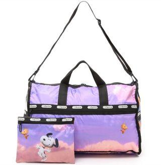 Lesportsac Snoopy Over Paris Medium Weekender (Boston Bag)