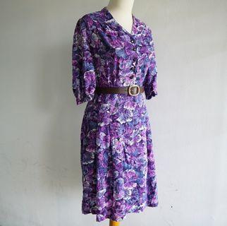 Vintage Dress - Purple