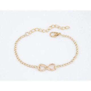 fashion simple retro auspicious digital personality 8 word bracelet (gold / silver) #JuneToGo