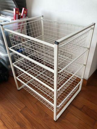 Storage racks (3) with 4 wire drawers