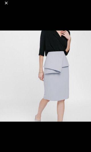 Love Bonito goserea origami peplum skirt size S
