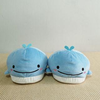 BNWT Authetic San X Jinbee-san Jinbei Whale Bedroom Slipper Leg Warmer from Japan Toreba