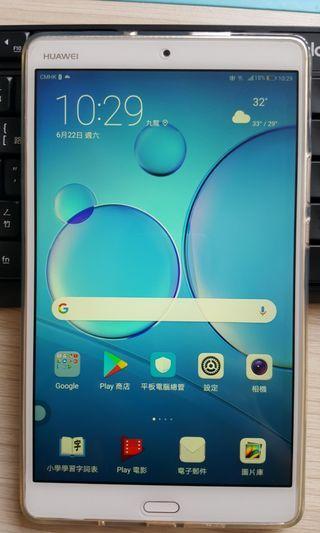 9成5新華為huawei Mediapad M3高配版 4+64G, 4G LTE +Wi-Fi,港行少用有套有貼電耐