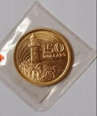 First issued numismatic $150 gold coin, 1pc.