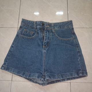 AA denim shorts
