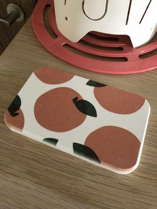 Orangy Water Absorbant Coaster