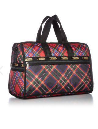 Lesportsac Cosy Plaid Medium Weekender (Boston Bag)