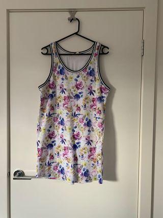 Floral 'basketball jersey' dress