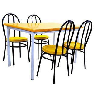 Cafe Table + 4 MC Chair