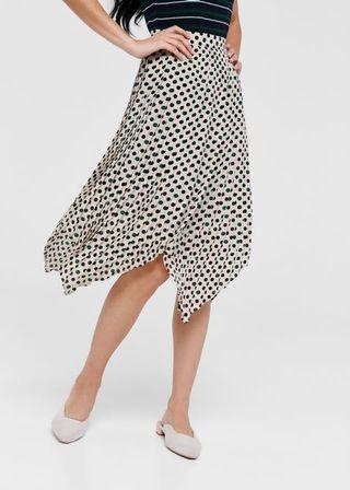 🚚 Ellis polka dot asymmetrical skirt