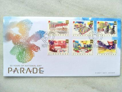 🚚 #MRTRaffles 50 years of National Day Parade FDC stamps