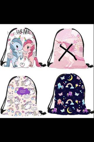 Unicorn gym bag rucksack drawstring bag for girls