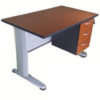 4' Writing table with Fixed 3 D Pedastal