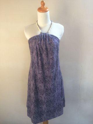 Purple beach dress
