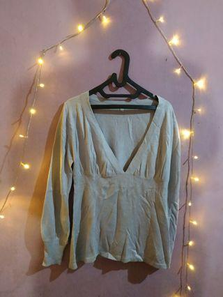 Loose Sweater cardigan knit rajut import