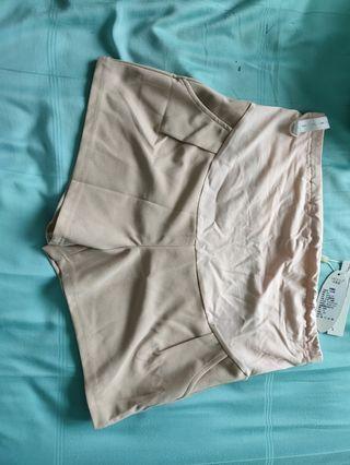 Maternity khaki shorts