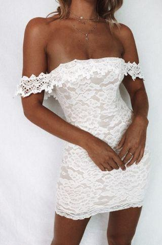 🔥Brand new🔥 Price negotiable! White off shoulder dress