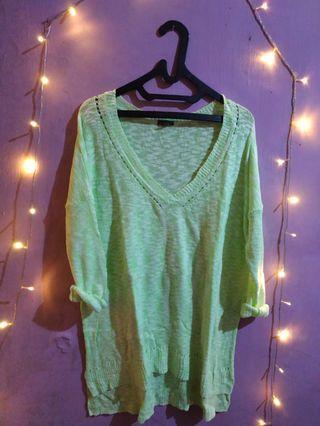 Loose Cardigan Rajut knit sweater loose light stabilo import