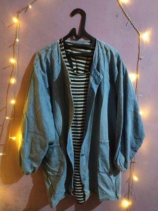Loose jacket jeans jaket import BKK korea