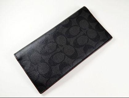 🚚 BN 💯 Authentic Coach Mens wallet breast pocket in Signature pvc leather