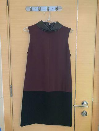 Calvin Klein Burgundy Black Dress