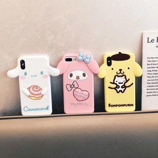 Bear cute pink 3D ear iphone 6 7 8 plus X XR XS Max case
