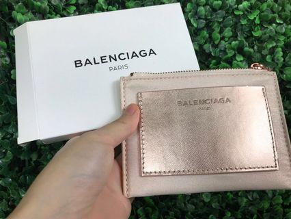 BN Balenciaga Rose Gold and Soft Pink Card Holder purse pouch Wallet