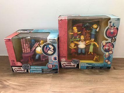 🚚 Todd McFarlane The Simpsons 2x Playsets Couch Gag Ironic Punishment