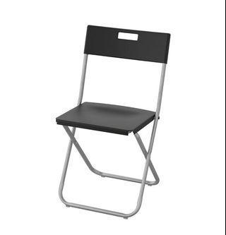 IKEA - 3 Folding Chairs, Black