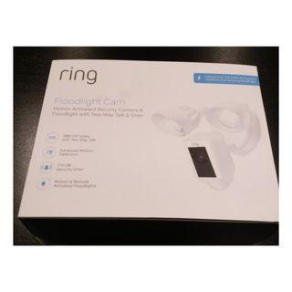 ring Floodlight Camera WHITE: NEW with seal